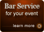 Bar Service for your event: Learn more